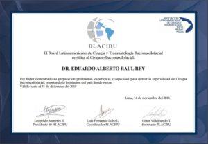 Certificado Blacibu Dr. Rey