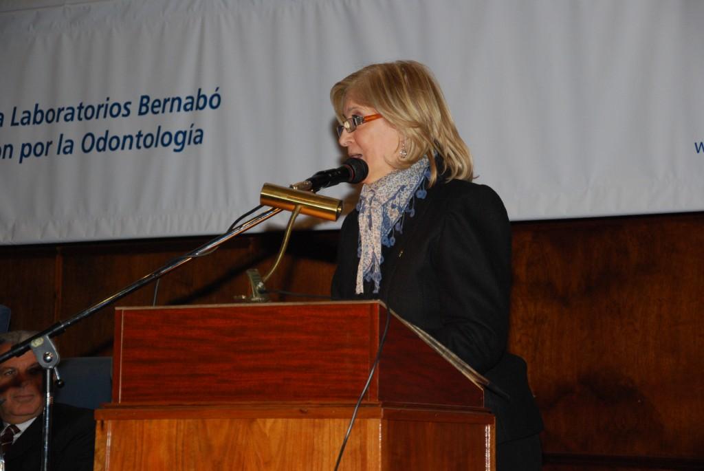 Decana de la Facultad de Odontología de la Universidad de Buenos Aires: Prof. Dra. Beatriz Guglielmotti